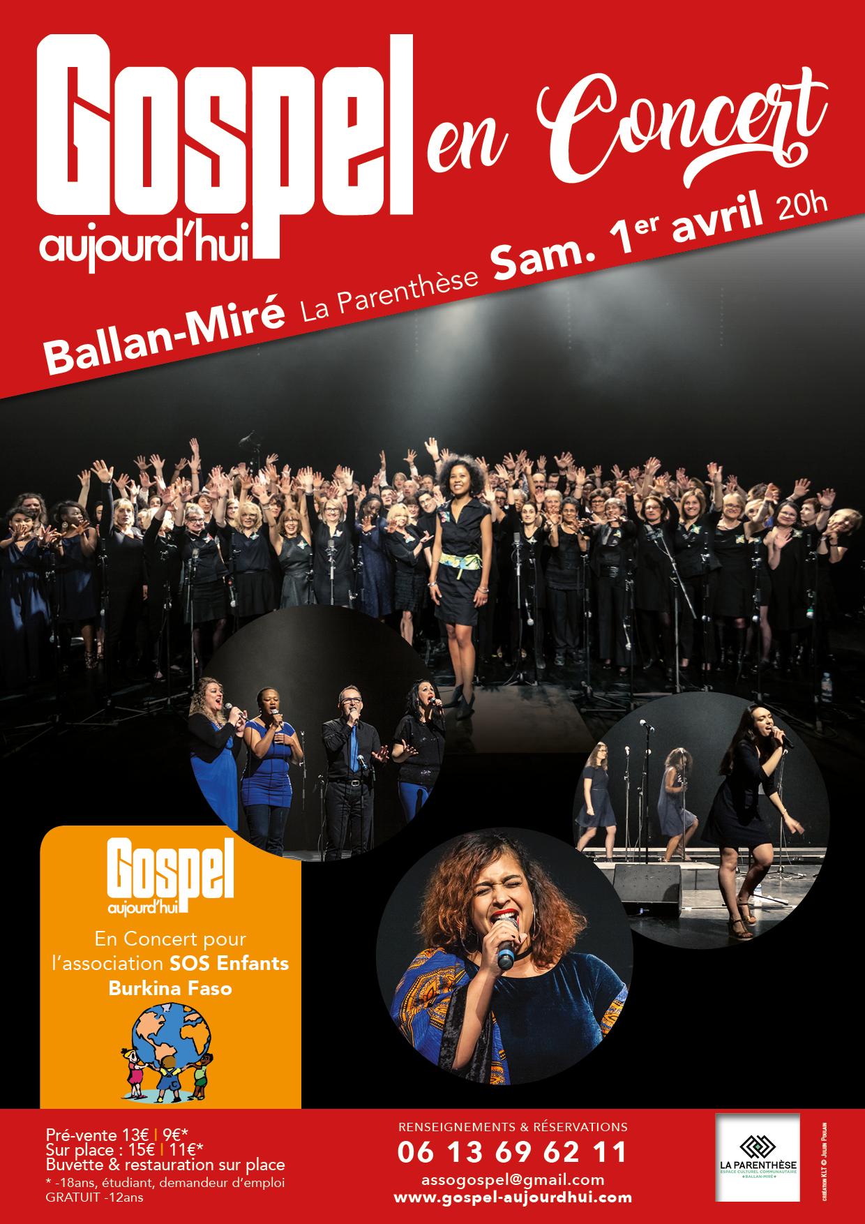 Concert de printemps Gospel Aujourd'hui